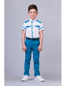 """Костюм для мальчиков голубого цвета из трех предметов """"Smart Color"""""""
